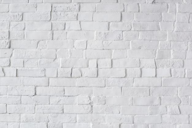 Parede de tijolo bonito pintado branco
