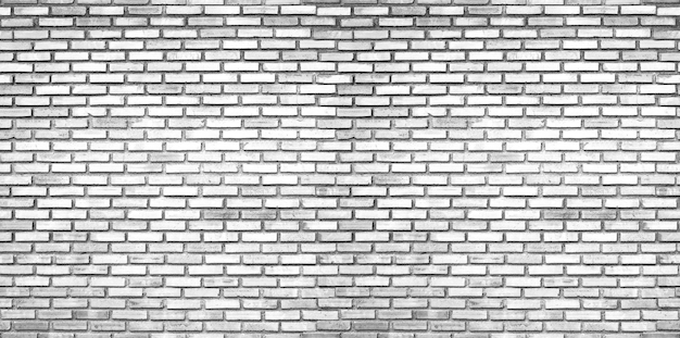 Parede de tijolo branco, fundos de textura de tijolo sem costura