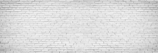 Parede de tijolo branco velha, textura vintage de alvenaria leve Foto Premium