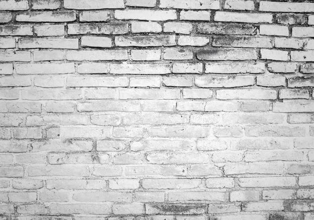 Parede de tijolo de fundo branco e cinza textura