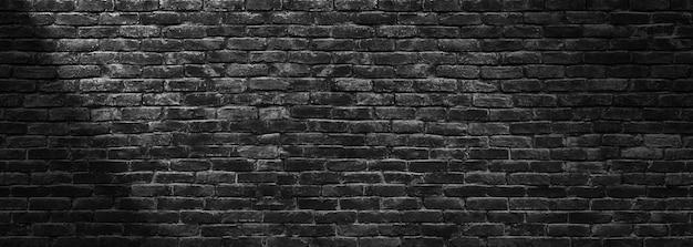 Parede de tijolo escuro, textura de blocos de pedra pretos