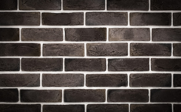 Parede de tijolo marrom escuro