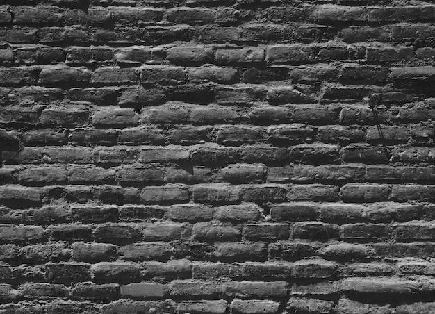 Parede de tijolo preta