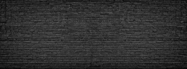 Parede de tijolo preto