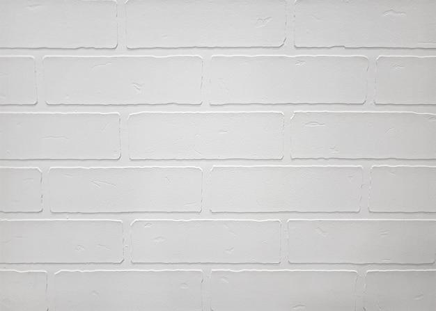Parede de tijolo velha branca para textura ou plano de fundo