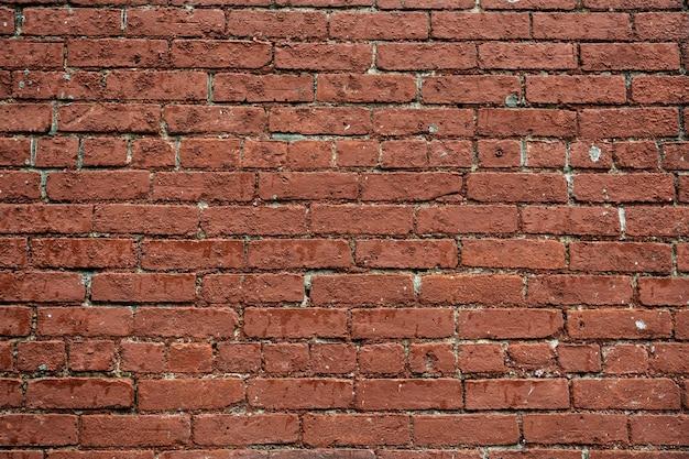 Parede de tijolo vermelho com fundo estampado