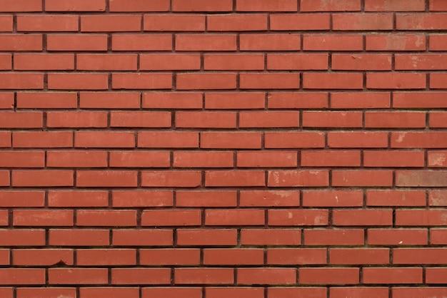 Parede de tijolo vermelho como pano de fundo abstrato. textura.