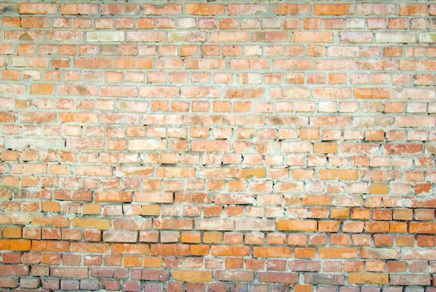 Parede de tijolo vermelho. fundo de tijolo