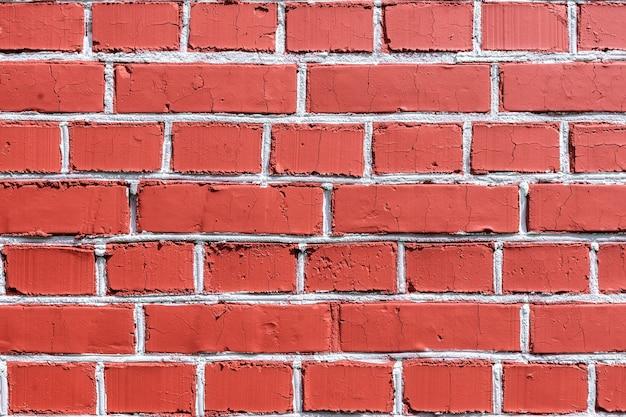 Parede de tijolo vermelho para plano de fundo ou textura