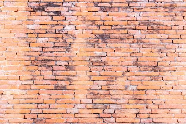 Parede de tijolo vermelho velha
