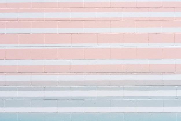 Parede de tijolos abstrata com linhas coloridas