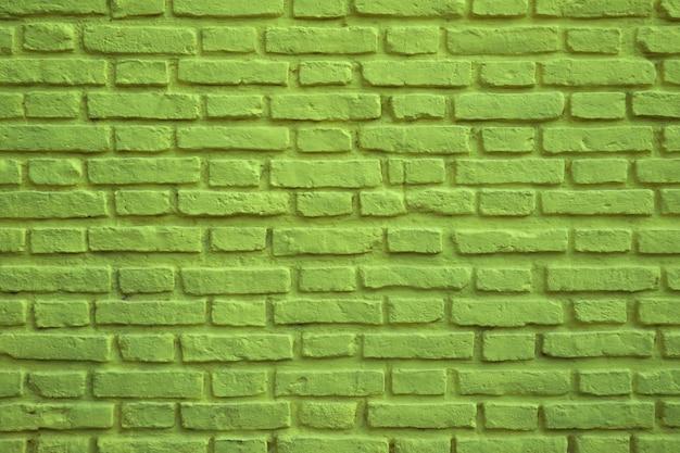 Parede de tijolos antigos coloridos verde limão