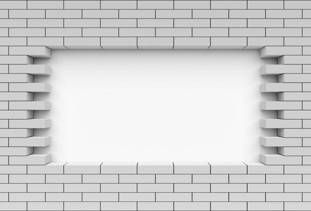 Parede de tijolos com fundo em branco para texto
