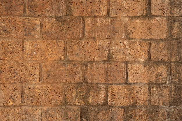 Parede de tijolos de argila