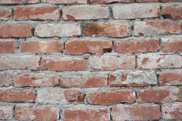 Parede de tijolos de grunge, fundo vermelho grunge textura