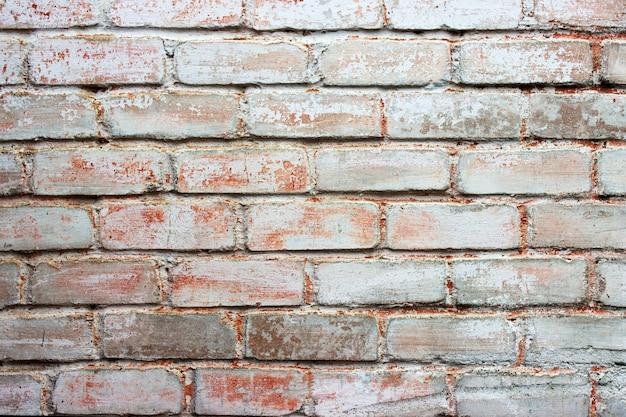 Parede de tijolos enevoados luz, fundo, textura