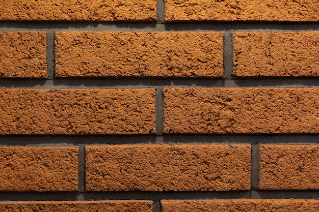Parede de tijolos laranja moderna close-up