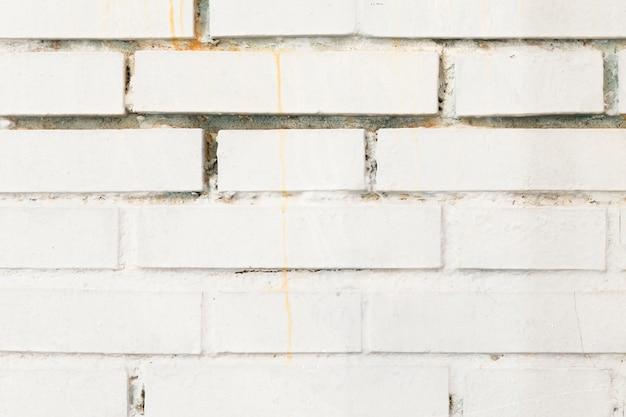 Parede de tijolos pintados
