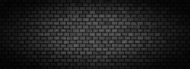 Parede de tijolos pretos, textura de superfície de pedra panorâmica ampla