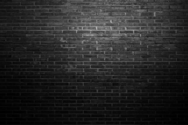 Parede de tijolos pretos