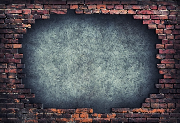 Parede de tijolos velha