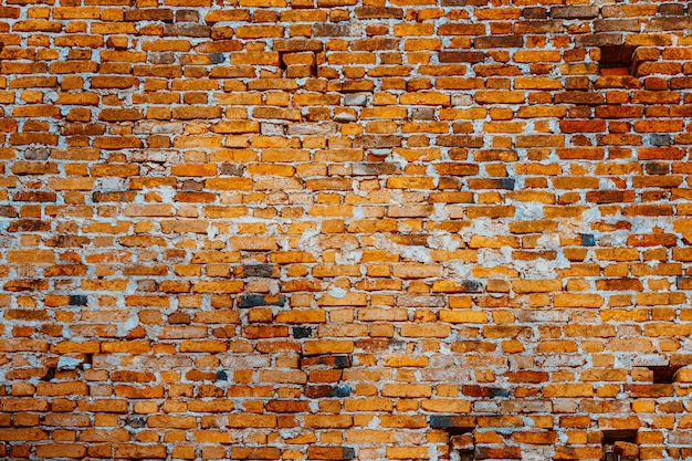 Parede de tijolos vermelhos velha para a textura.