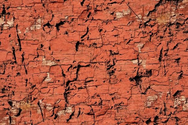 Parede de tinta marrom e laranja grunge abstrata rachado fundo de textura
