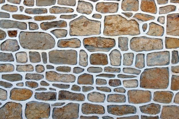 Parede de uma casa feita de pedras