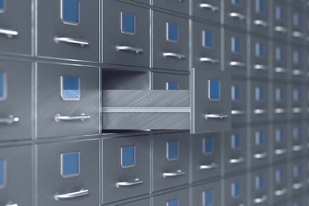 Parede do armário de arquivo. ilustração 3d