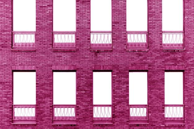 Parede do prédio de tijolos rosa. interior de um loft moderno. plano de fundo para design