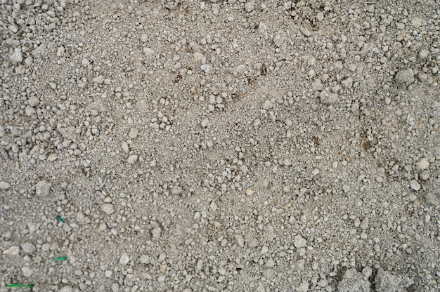 Parede do solo de terra seca solta textura do solo sem nada, pronta para o plantio