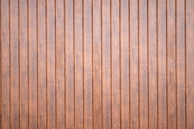 Parede feita de textura de pranchas verticais de madeira marrom
