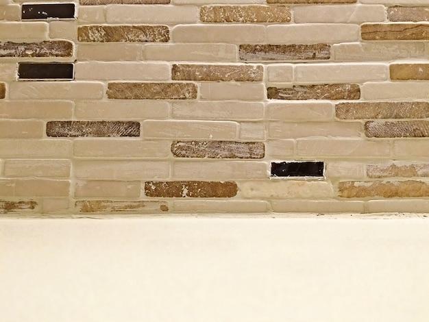Parede feita de tijolo pedra cimento concreto textura