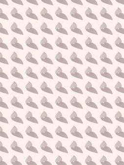 Parede festiva de celebração de pequenos corações invertidos feitos de gesso verticalmente em uma parede cinza claro com sombras duras. dia dos namorados