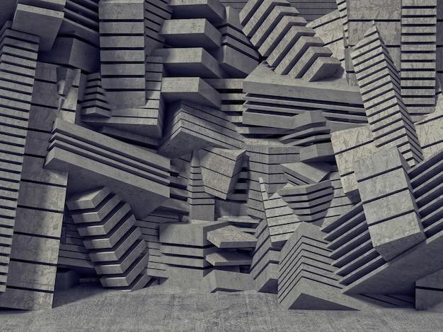 Parede geométrica 3d
