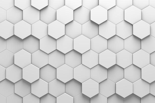 Parede hexagonal do teste padrão das telhas 3d