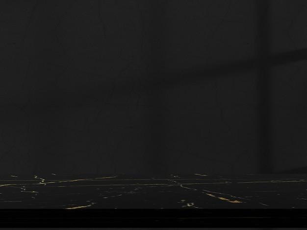 Parede interior de fundo cinza com sombras de janela para exposição do produto