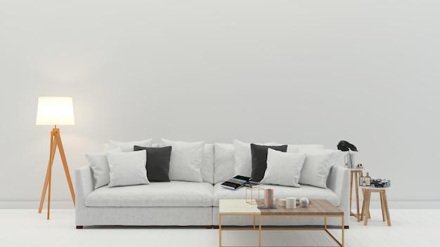 Parede interior textura fundo madeira piso de mármore sofá cadeira lâmpada moderna vintage