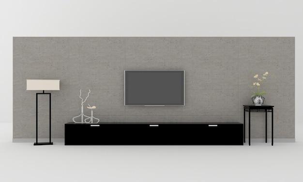 Parede interna do rack de tv lcd