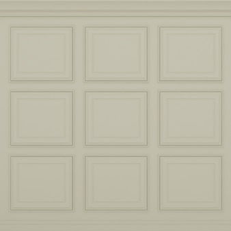Parede marrom claro clássico, renderização em 3d