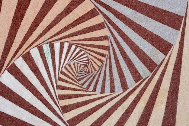Parede pintada com fundo geométrico