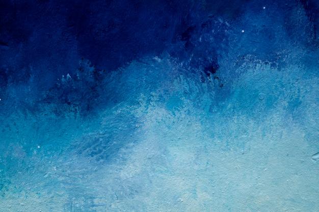 Parede pintada de azul e branco abstrato Foto Premium