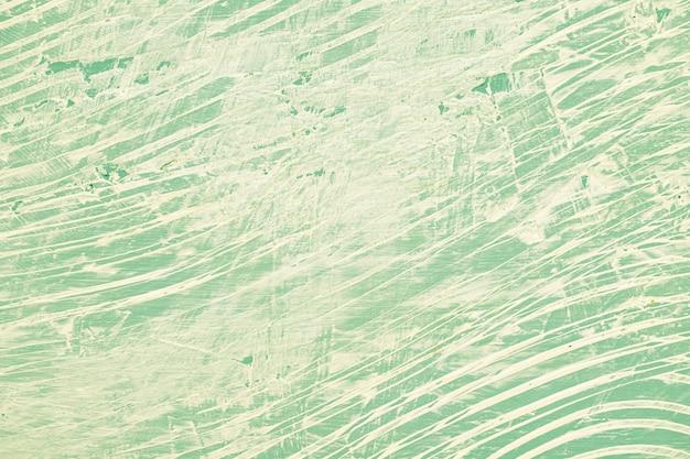 Parede pintada verde bagunçada
