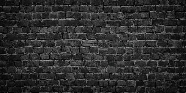 Parede preta de textura de fundo de tijolos