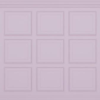 Parede rosa clássica, renderização 3d