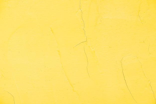 Parede texturizada pintada amarela vazia