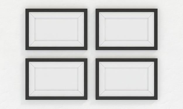 Parede vazia do porta-retrato. renderização 3d