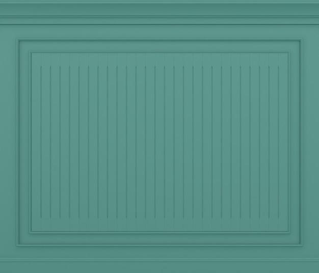 Parede verde clássica renderização em 3d