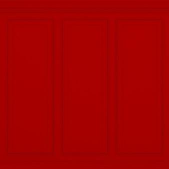Parede vermelha clássica renderização em 3d