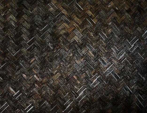 Paredes de bambu velho tecer